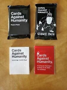 Nuevo-Lote-4-Pack-hepatitis-cronica-activa-tarjetas-Against-Humanity-Science-rechazar-House-no