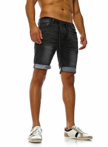Sublevel Uomo Jeans-Pantaloncini Vintage Sweat-Shorts Capri Jeans Destroyed Bermuda