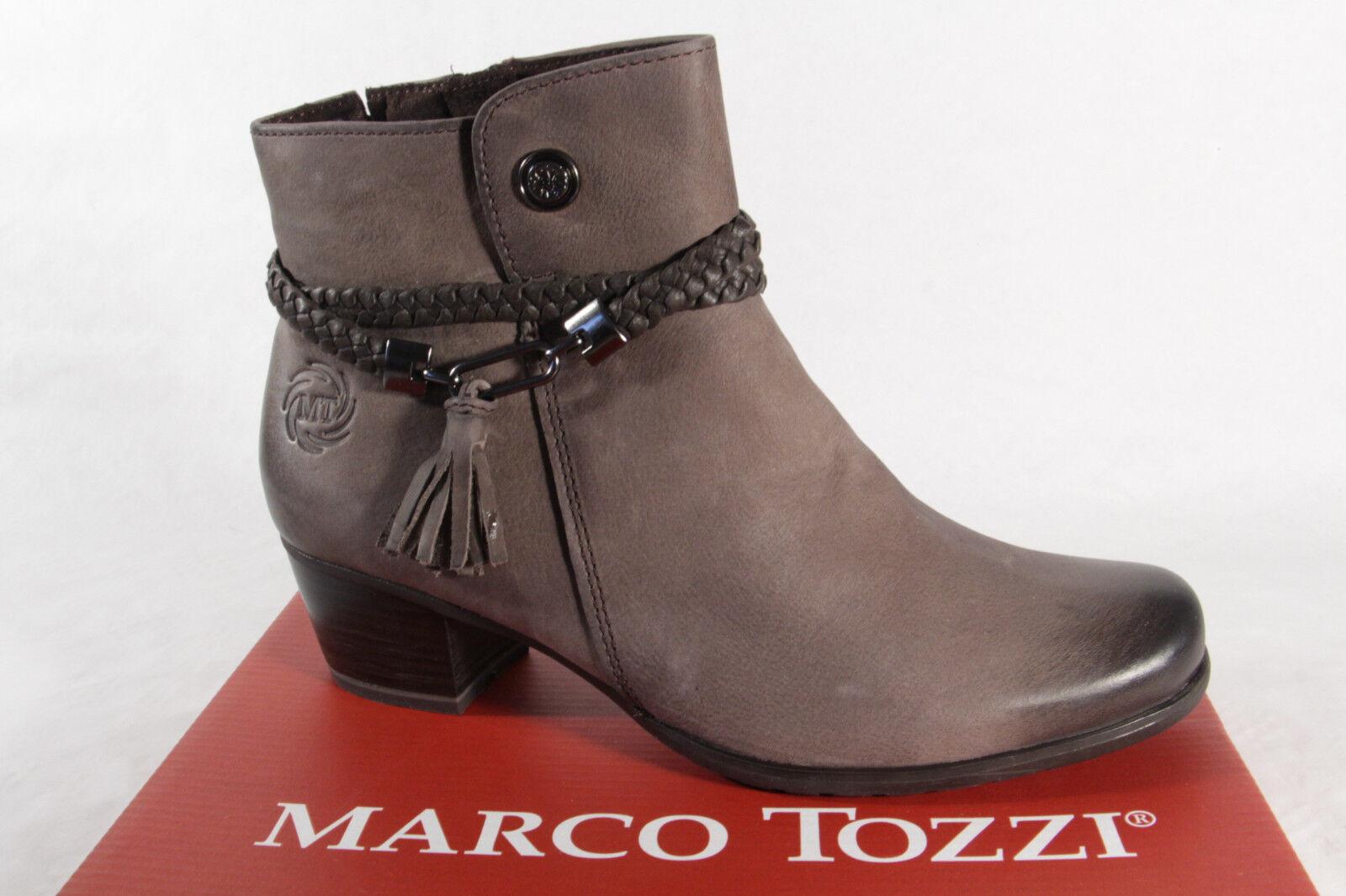 Marco Tozzi Tozzi Tozzi 25383 botas Mujer, Botines, botas Cuero Auténtico gris Nuevo  precios razonables
