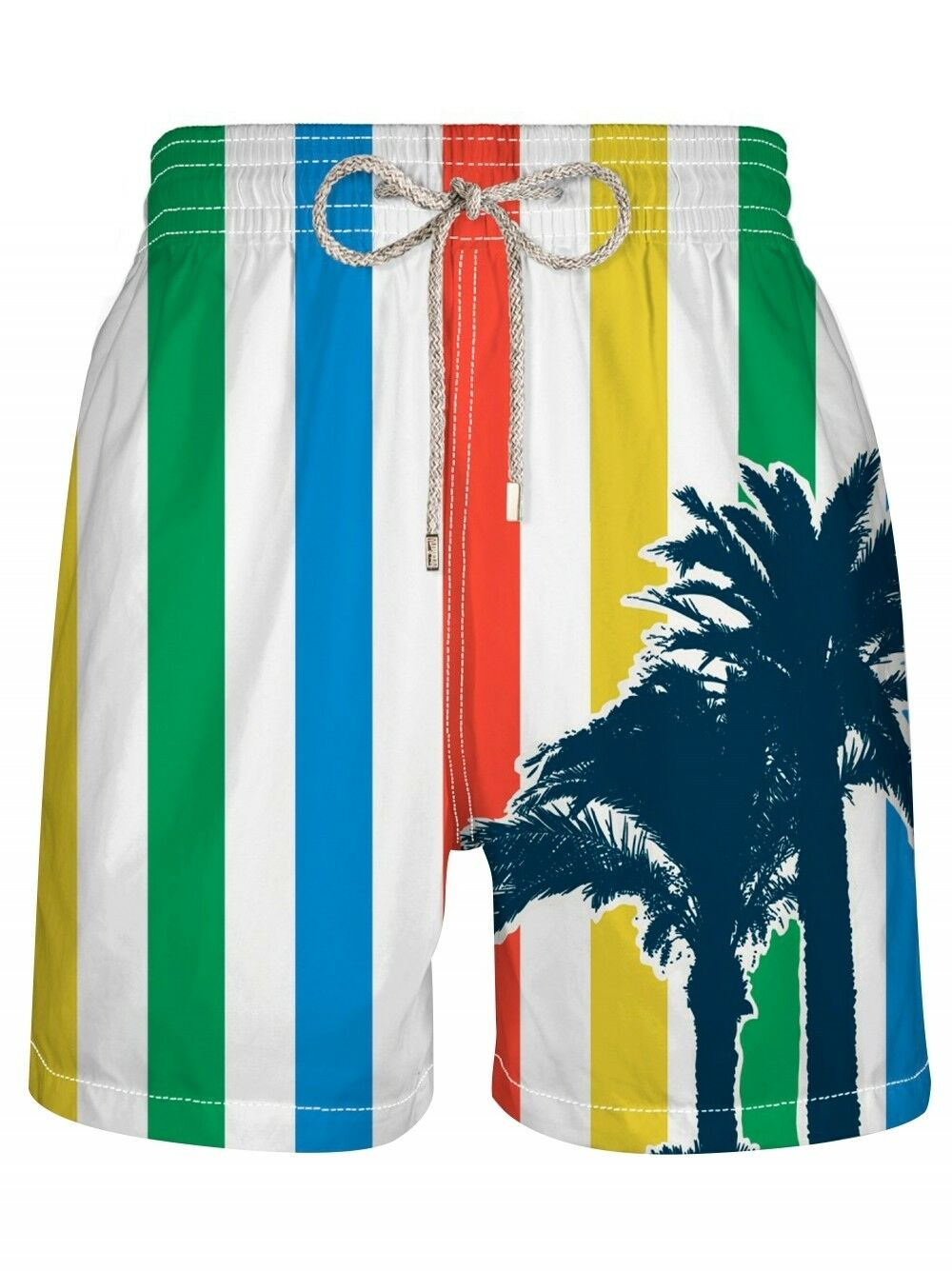 NWT VILEBREQUIN LG (32-34) swim trunks men's swimsuit shorts striped Moorea