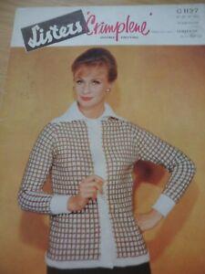 Avoir Un Esprit De Recherche Vintage Lister 1960 S Dk Knitting Pattern Ladies Cardigan With Collar 36 - 40 In-afficher Le Titre D'origine Top PastèQues