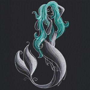 Midnight Magick Mermaid Bathroom Bath Towel Embroidered Beautiful