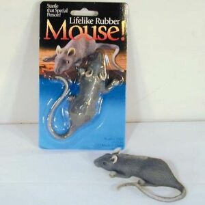 6 Realistic Rubber Fake Mouse Animal Trick Mice Sm Rat Real Looking