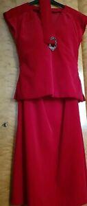 Neuw Kleid Festtagskleid Abendkleid Rot Lang 36 38 Hochwertig Qualitat Exklus Ebay