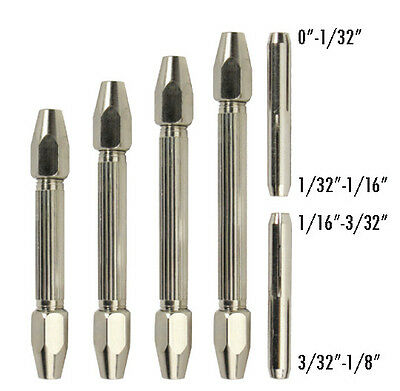 US FREE SHIPPING * New Double Mouth Pin Vise Hand Drill Bit Chuck # 841DH