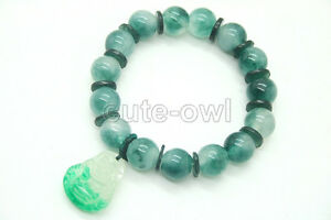 Chinese-Oriental-Natural-Green-Jade-Round-Bangle-Bracelet-Feng-Shui-Jewelry