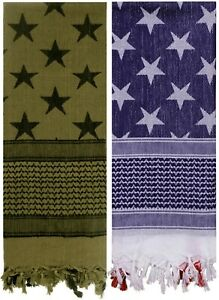 Stars-amp-Stripes-Tactical-Shemagh-Army-Arab-Desert-Scarf-American-US-Flag-Pattern