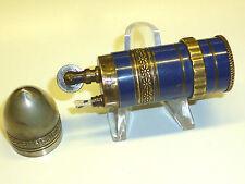 VINTAGE BULLET LIGHTER - BLUE LACQUER/ENAMEL - KASCHIE ? - 1930 - MADE IN FRANCE