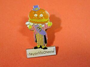 Vintage McDonald's Mayor McCheese Cheeseburger Head Lapel Pin
