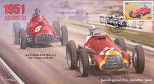 1951b Spanish Fangio F1 Cover signed BBC commentator RAYMOND BAXTER