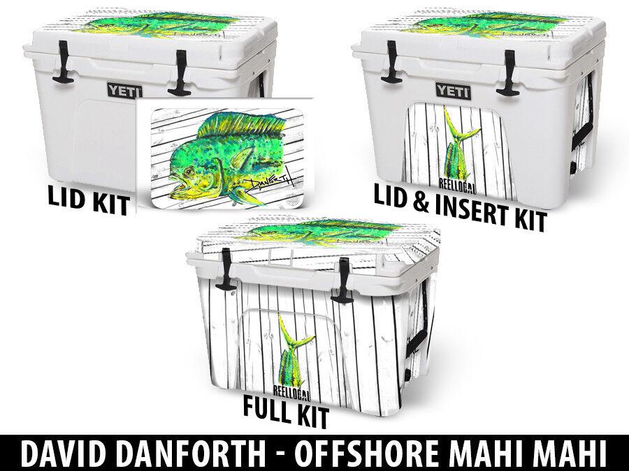 USATuff Cooler Decal Wrap fits Danforth YETI Tundra 35qt FULL Danforth fits Offshore Mahi debe80