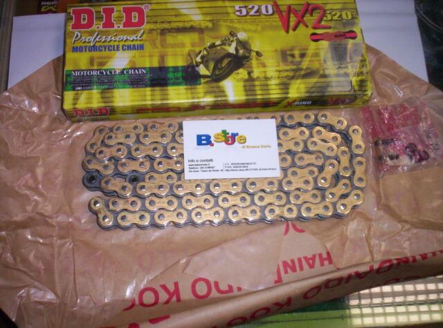 Cadena Transmisión DID VX2 Paso 520 Moto Oro y Negro Aprilia 250 Rs 1999 2000