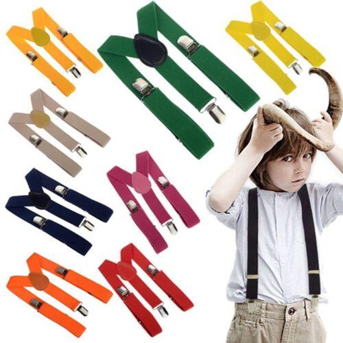 Kids Pants Carrier Suspenders Children Many Colours Neon Stretch Y-Shape
