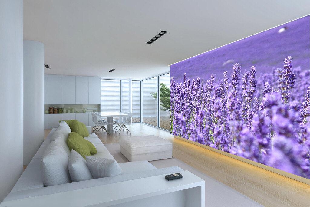 3D Verträumter Lavendel 867 Tapete Wandgemälde Tapete Tapeten Bild Familie DE
