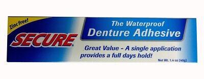 Secure Denture Adhesive >> Secure Denture Adhesive Waterproof Zinc Free 1 4 Oz Formerly Secure Denture Ebay