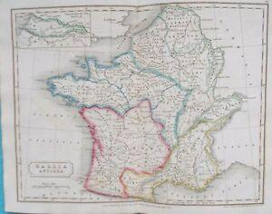 Map Of Ancient France 1826 Europe Roman Gallia Ebay