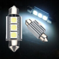 2STK 36mm CANBUS 3 LED 5050 SMD 6418 C5W Auto Lampe Kennzeichenbeleuchtung Weiß