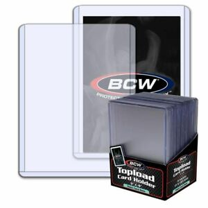 1-PK-25CT-NEW-BCW-THICK-CARD-79PT-TRADING-CARD-TOP-LOADERS-3X4