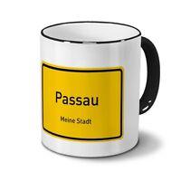 Städtetasse Passau - Design Ortsschild