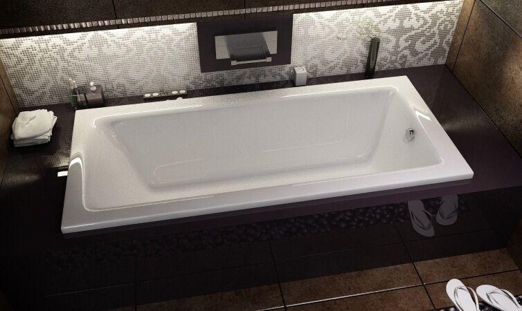 Badewanne Wanne TALIA 130x70 cm + Wannenträger + Ablauf im SET