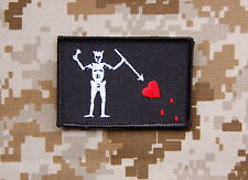 Navy SEAL Team 3 Blackbeard Pirate Flag Patch Edward Teach Battlefield 4 VELCRO®