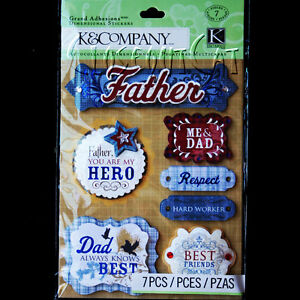 Details about K & COMPANY Dad STICKERS PACK Me & Father My Hero Respect  Best Friends WORDS