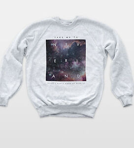 Neverland Space Sweat Quote Indie Hipster Top Retro Peter Pan Tumblr