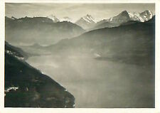 Lac de Thoune Lake Thun Schweiz Switzerland Suisse Zeppelin Airship CARD 30s