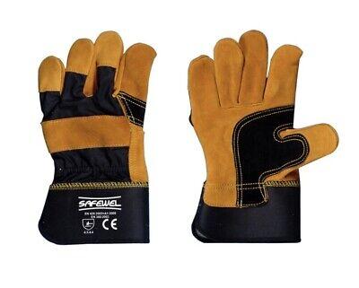 Considerate Unbeatable Price 10 X Pairs Premium Leather Rigger Gardening Gloves Crazy Price Diy