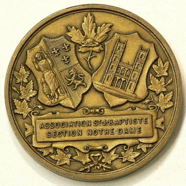 1834 1909 Ludger Duvernhy Fondateur Medal Brass 39 mm Canada #1985