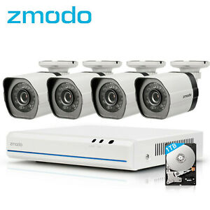 Zmodo-8CH-HDMI-NVR-4-720p-Security-Outdoor-IR-CCTV-Surveillanc-Camera-PoE-System