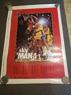 Chicago Bulls Schedule Sky Man Poster