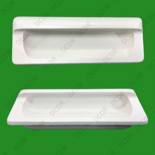 8x en Bois Blanc Encastré Poignée 110 mm Cabinet Armoire Cuisine Poignées de porte
