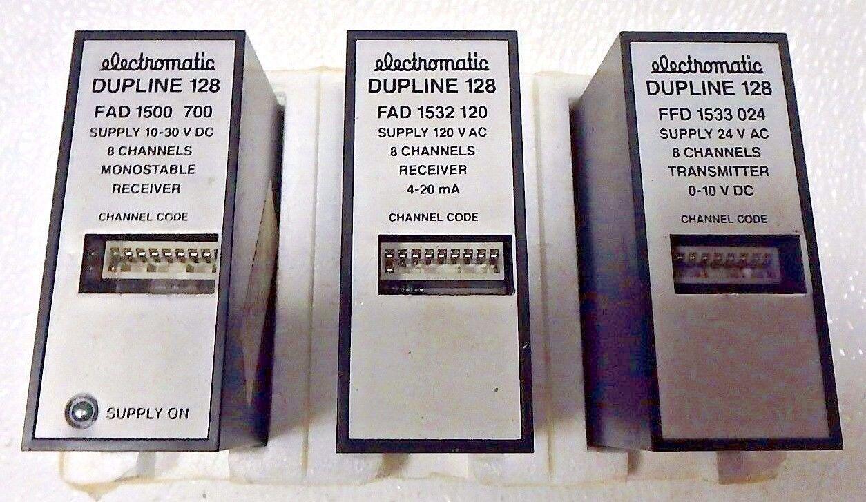 Electromatic monoestable receptor 8 Ch receptor transmisor (3 PK) dupline 128