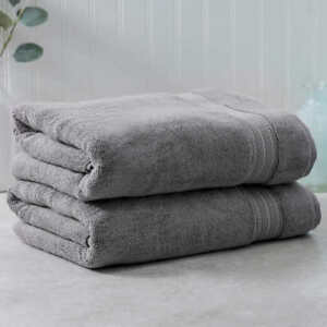 Charisma-Soft-Hygro-Cotton-Two-piece-Bath-Towel-Set-Color-Dark-Gray