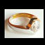thumbnail 4 - Ladies Silver Gold Plated Solitaire  Ring Size 4.5 9.5 10 Cubic Zirconia