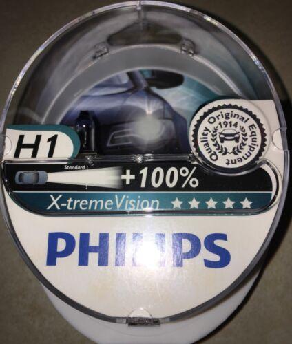 PHILIPS H1 XTREME VISION H1 PHILIPS X-TREME VISION CAR HEADLIGHT BULBS H1 100/%