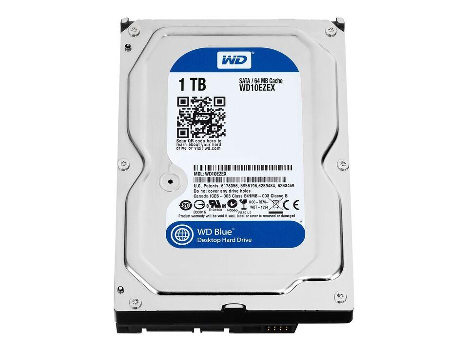"""WD Blue Harddisk 1 TB - intern - 3.5"""" - SATA 6G..."""