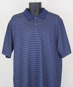 Mens-IZOD-Golf-Classix-Elite-Cool-Fx-Blue-Polo-Shirt-Short-Sleeve-Size-XL-XLarge