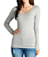 Women-039-s-Long-Sleeve-Shirt-Scoop-Neck-T-shirt-Top-Tee-Shirts-1XL-3XL-PLUS-SIZE thumbnail 18
