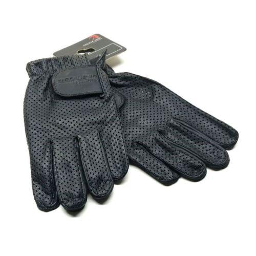 Details about  /Redline Men/'s Gel Padded Full-Finger Motorcycle Leather Gloves Black G-055P