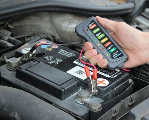 12V Coche Auto Moto Batería De La Motocicleta Alternador Probador con indicadores LED