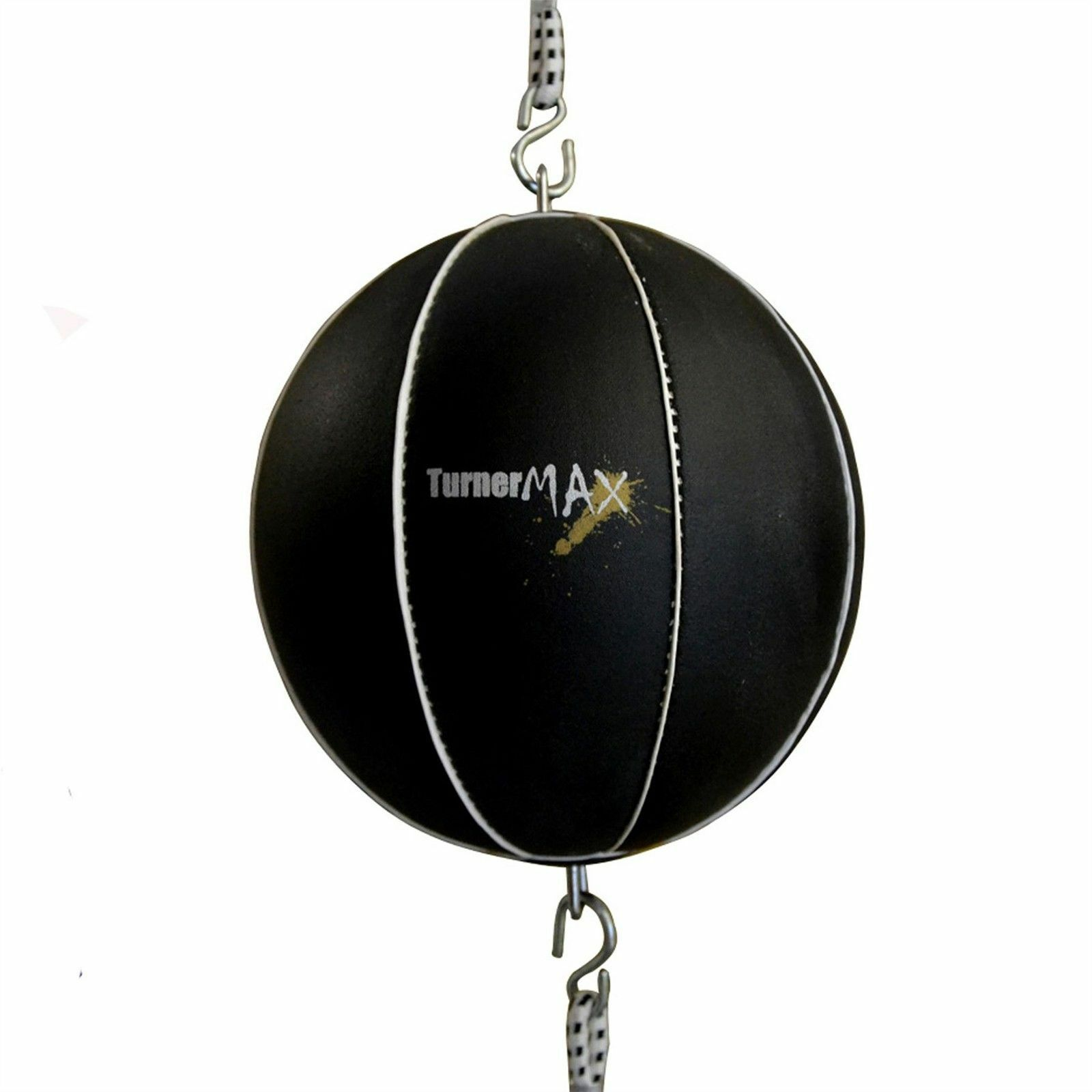 TurnerMAX Leather Double End Speed Ball Boxing Bag Punching Training MMA