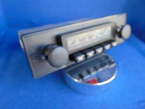 VW-AUDI-Oldtimer-Autoradio-Emden-6-ca-1977-MP3-moeglich-neue-Blende-und-Knoepfe