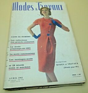 Magazine Modes & Travaux  Avril 1961 complet