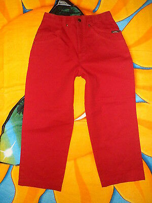 Besorgt Usa Vintage Ozark Mountain Jeans Firma Rot Hohe Taille Kurze Jeans 26x23 Volumen Groß