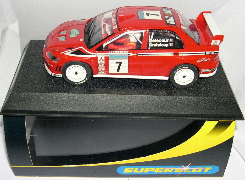 SUPERSLOT H2365 MITSUBISHI LANCER WRC RALLY SWEDEN 2002 SCALEXTRIC UK MB