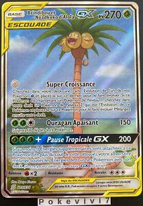 Carte-Pokemon-BRINDIBOU-ET-NOADKOKO-D-039-Alola-215-236-GX-Escouade-FA-SL11-FR-NEUF