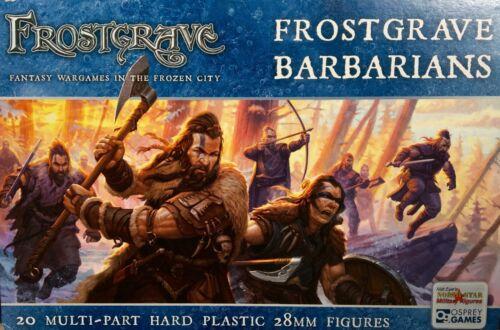 Frostgrave Barbarians 28mm New • 1 Sprue • 5 Miniatures • Osprey Northstar