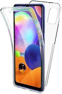 Pour Samsung Galaxy A31 Coque Gel 360 avant + Arrière Protection INTÉGRAL